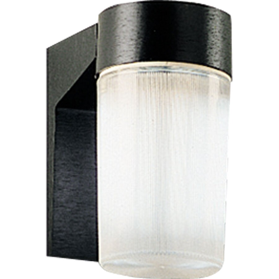 Progress Lighting Hard-Nox 6.75-in H Black Outdoor Wall Light