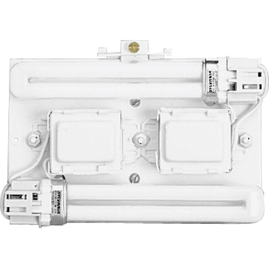 Progress Lighting Wall Pocket 4.75-in W 2-Light White Pocket Wall Sconce
