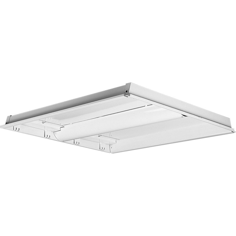 Progress Lighting Flush Mount Shop Light (Common: 2-ft; Actual: 26-in x 26.5-in)