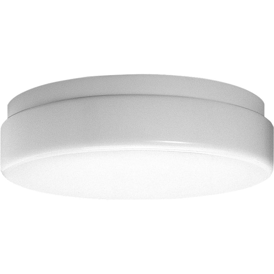 Progress Lighting Hard-Nox 19-in W White Outdoor Flush-Mount Light