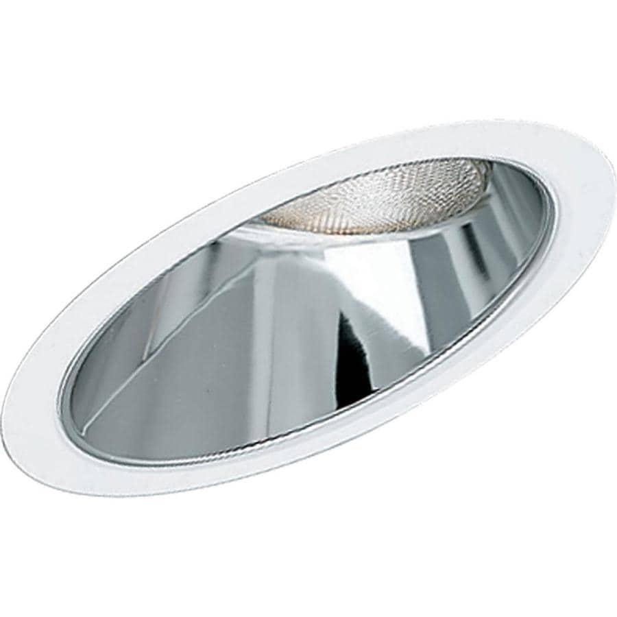 Shop Progress Lighting Clear Alzak Reflector Recessed Light Trim Fits Housin