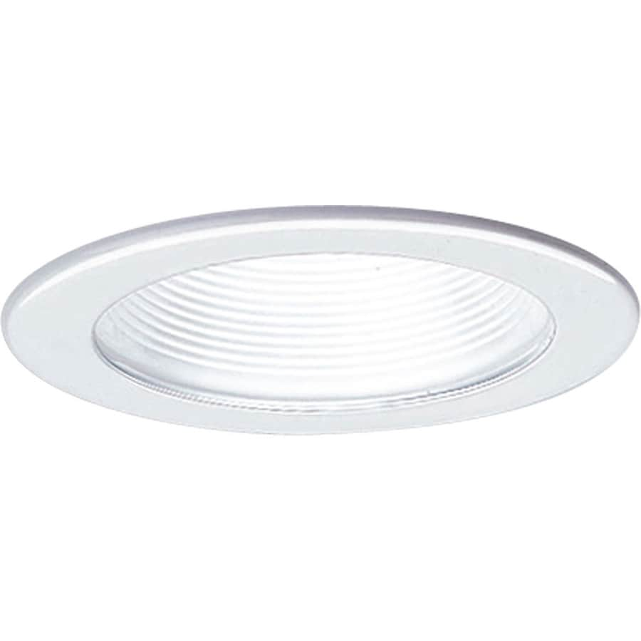 Progress Lighting White Baffle Recessed Light Trim (Fits Housing Diameter: 4-in)