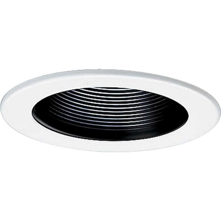 Progress Lighting Black Baffle Recessed Light Trim (Fits Housing Diameter: 4-in)