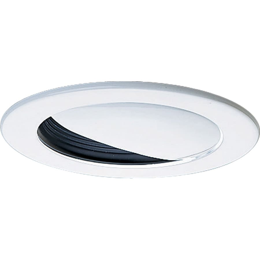 Shop Progress Lighting Black Wall Wash Recessed Light Trim Fits Housing Diam