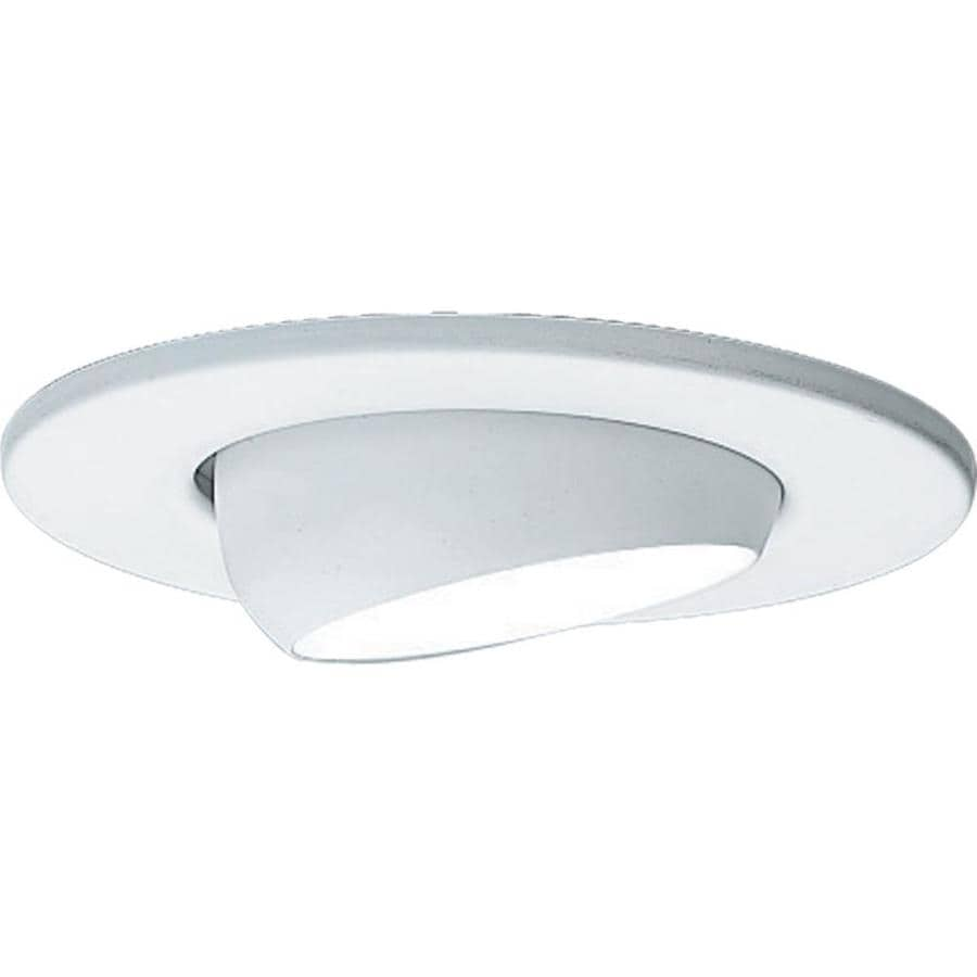 Progress Lighting White Eyeball Recessed Light Trim (Fits Housing Diameter: 4-in)