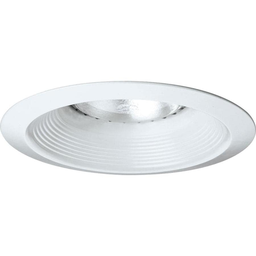 Progress Lighting White Baffle Recessed Light Trim (Fits Housing Diameter 6 -in)  sc 1 st  Loweu0027s & Shop Progress Lighting White Baffle Recessed Light Trim (Fits ...