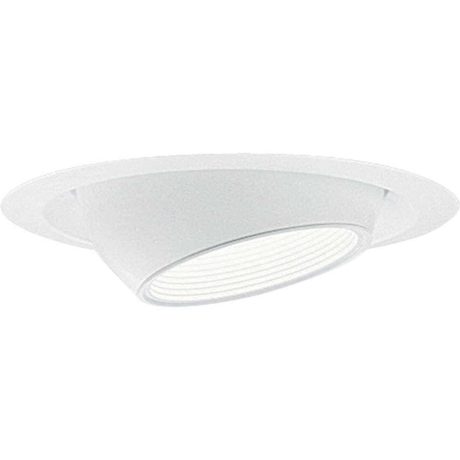 Progress Lighting White Eyeball Recessed Light Trim (Fits Housing Diameter: 6-in)
