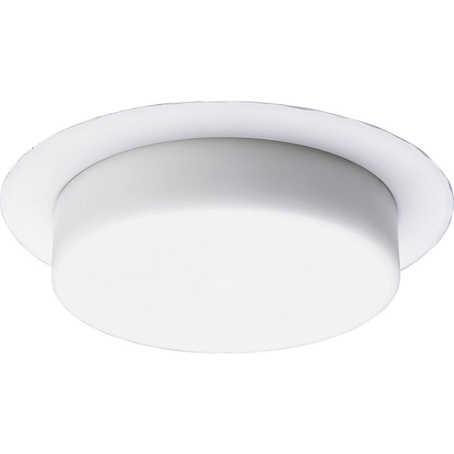 Shop Progress Lighting White Shower Recessed Light Trim Fits Housing Diameter 5 In At Lowes Com