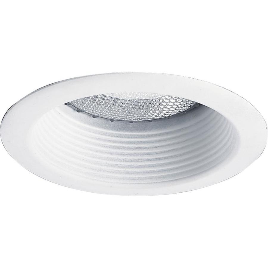 Progress Lighting White Baffle Recessed Light Trim (Fits Housing Diameter: 5-in)