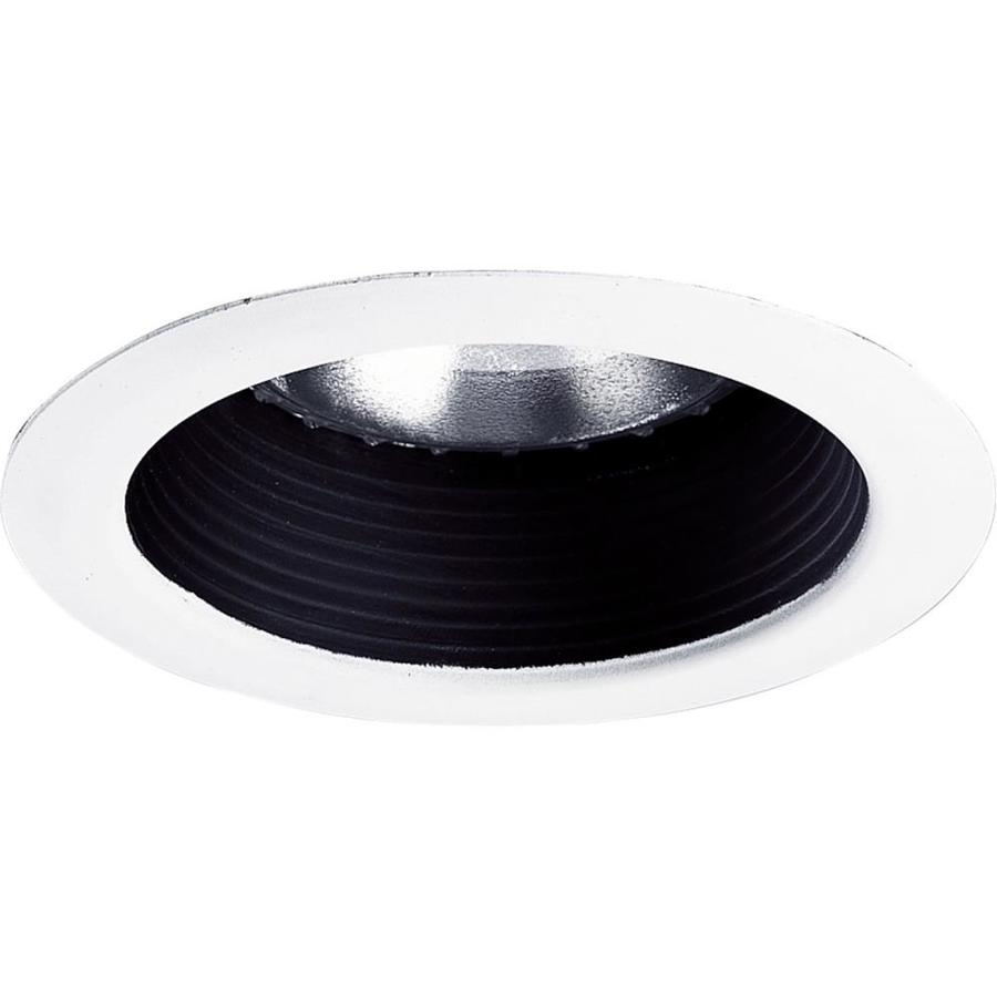 Progress Lighting Black Baffle Recessed Light Trim (Fits Housing Diameter: 5-in)