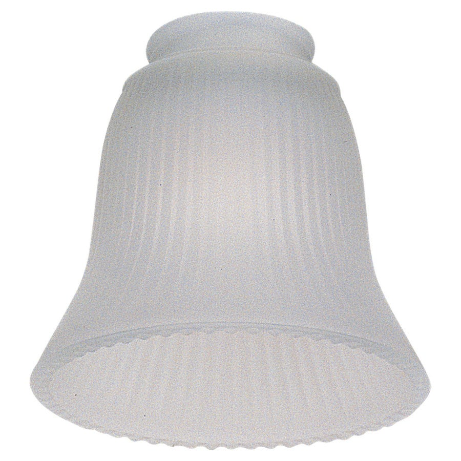 Sea Gull Lighting 0-Light Frosted Ribbed Ceiling Fan Light Kit with Glass Shade Glass or Shade