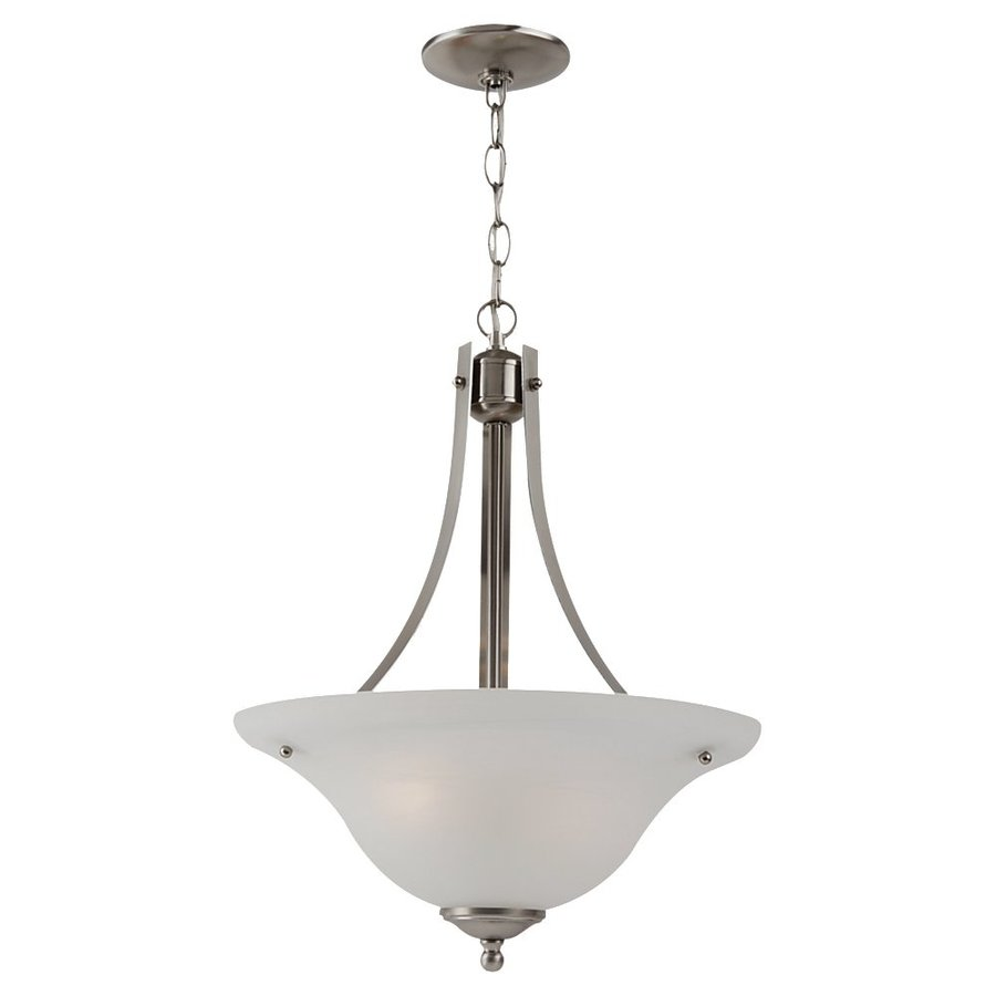 Sea Gull Lighting Windgate 15.75-in Brushed Nickel Single Pendant