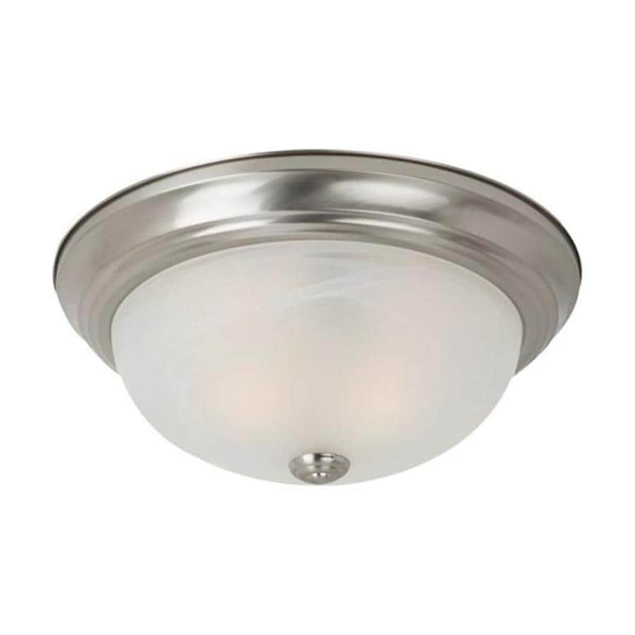 Sea Gull Lighting 13-in W Brushed Nickel Standard Flush Mount Light