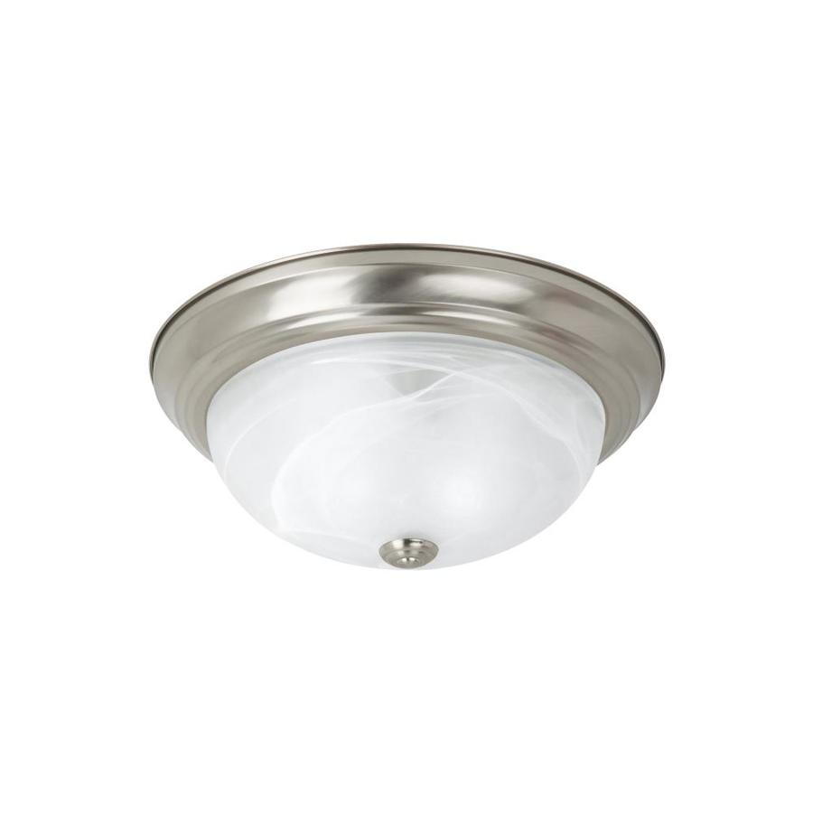 Sea Gull Lighting 15-in W Brushed Nickel Standard Flush Mount Light