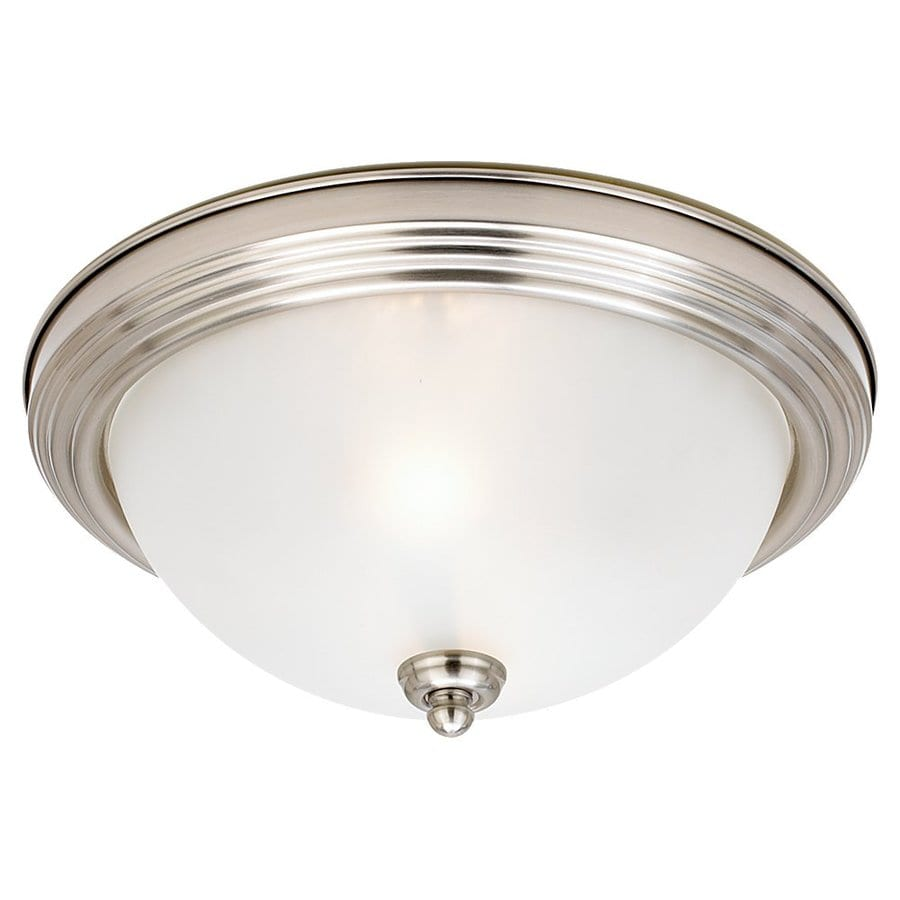 Sea Gull Lighting 12.5-in W Brushed Nickel Standard Flush Mount Light