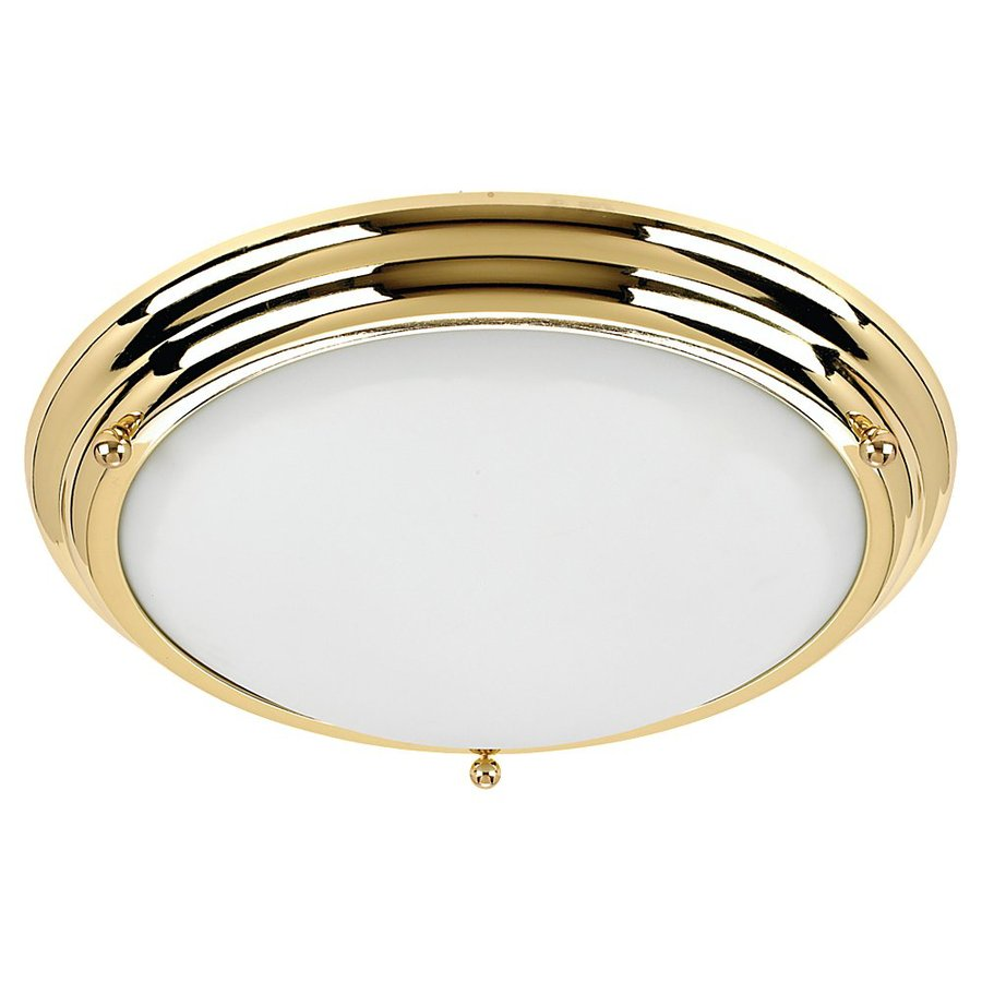 Sea Gull Lighting 18-in Polished Brass Ceiling Flush Mount