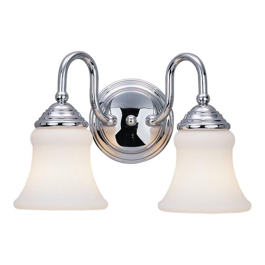 Sea Gull Lighting 2-Light Darien Chrome Bathroom Vanity Light