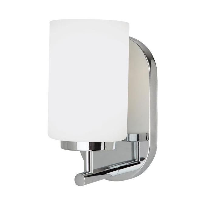 Sea Gull Lighting Oslo 4 75 In W 1 Light Chrome Modern Contemporary Wall Sconce Energy Star In The Wall Sconces Department At Lowes Com