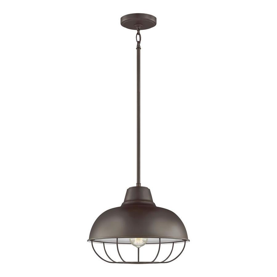 Original Warehouse Pendant Light: Sea Gull Lighting Jeyne Heirloom Bronze Single Traditional
