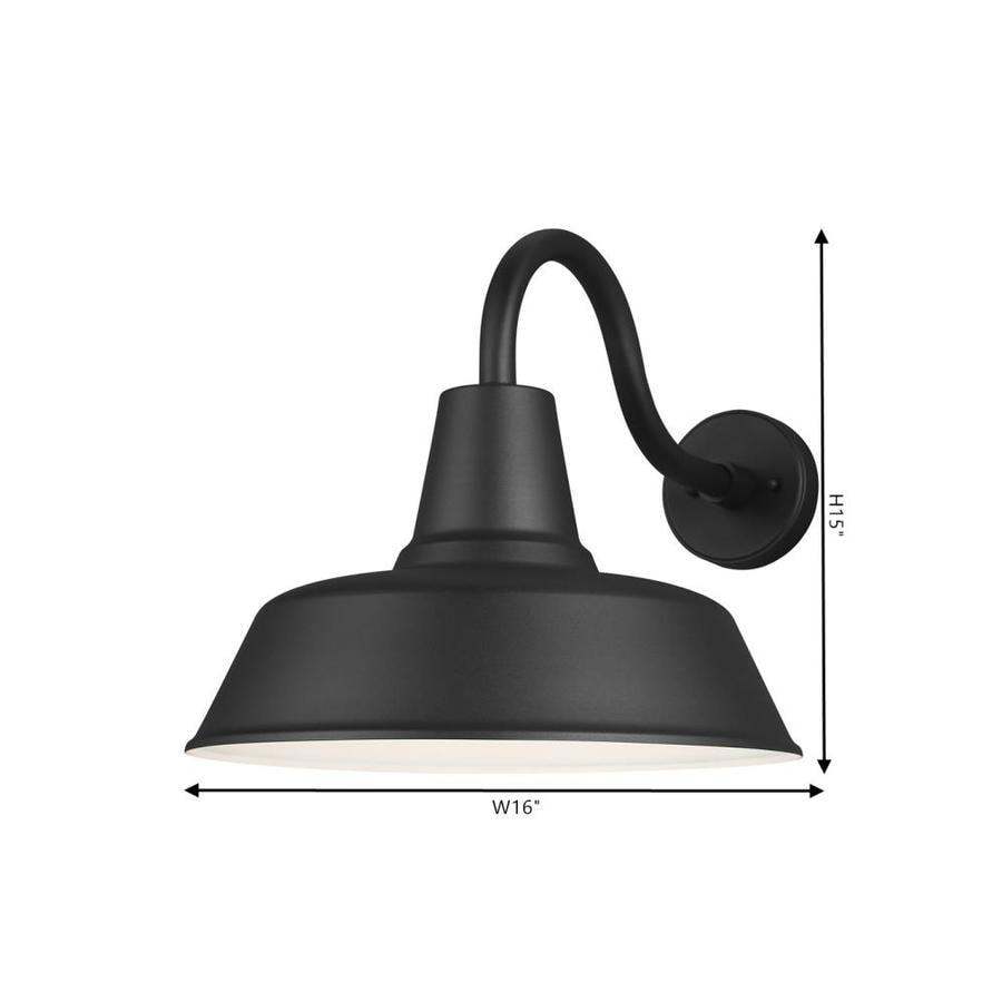 Sea Gull Lighting Barn Light Extra Large 1 Light Black Outdoor Wall Mount Lantern In The Outdoor Wall Lights Department At Lowes Com