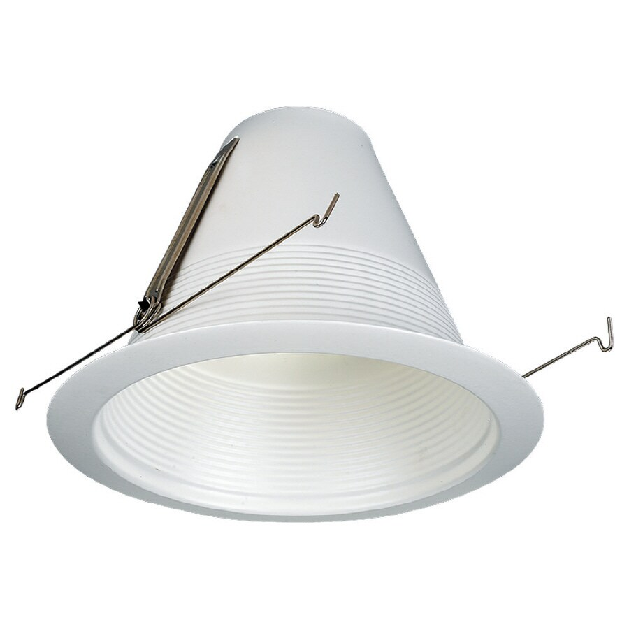 Sea Gull Lighting White Baffle Recessed Light Trim Fits Housing Diameter 7 In