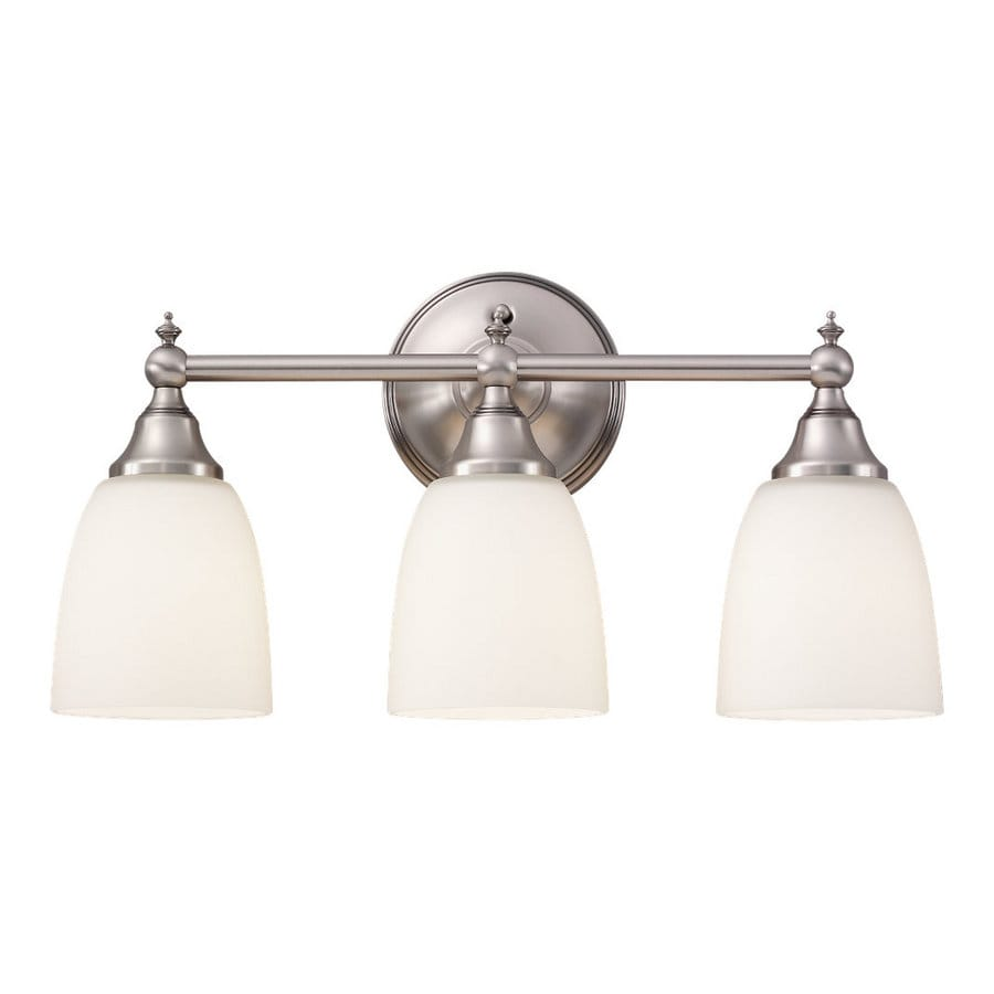 Sea Gull Lighting Finitude 3-Light Antique Brushed Nickel Vanity Light
