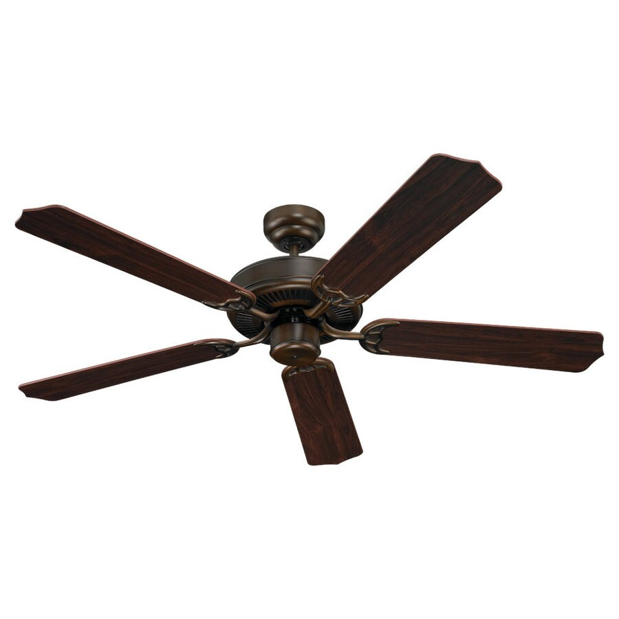 Sea Gull Lighting Quality Max 52-in Russet Bronze Downrod or Flush Mount Ceiling Fan ENERGY STAR