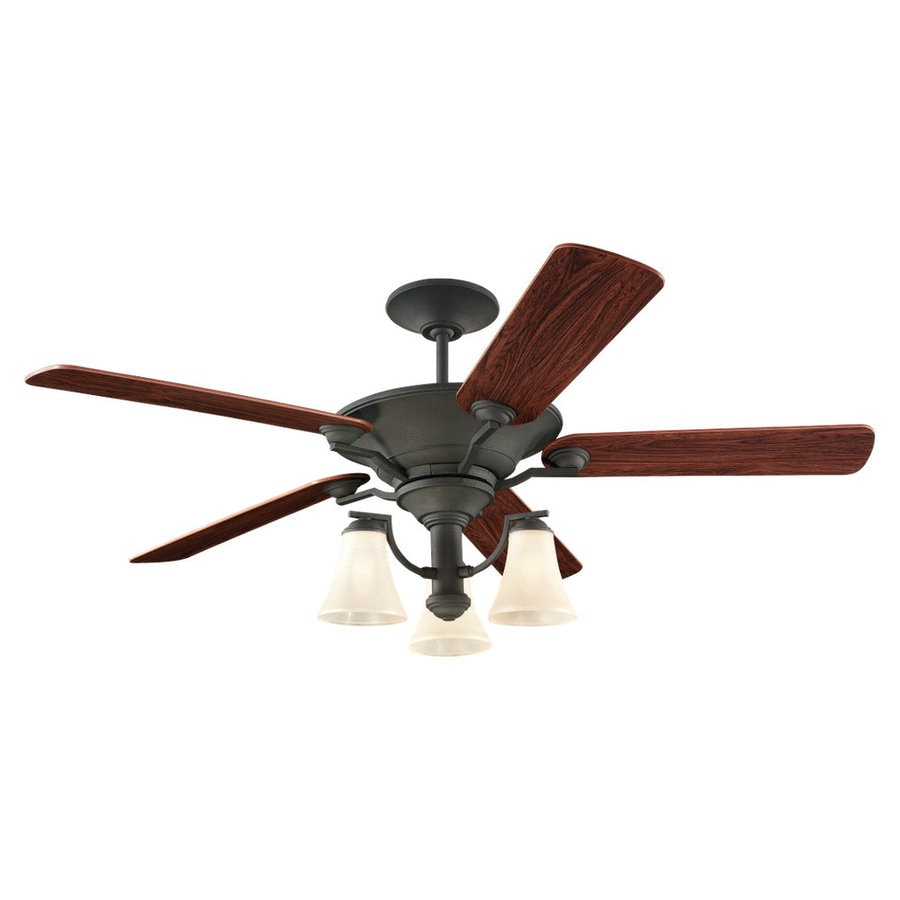 Sea Gull Lighting Somerton 56-in Blacksmith Downrod or Flush Mount Ceiling Fan with Light Kit