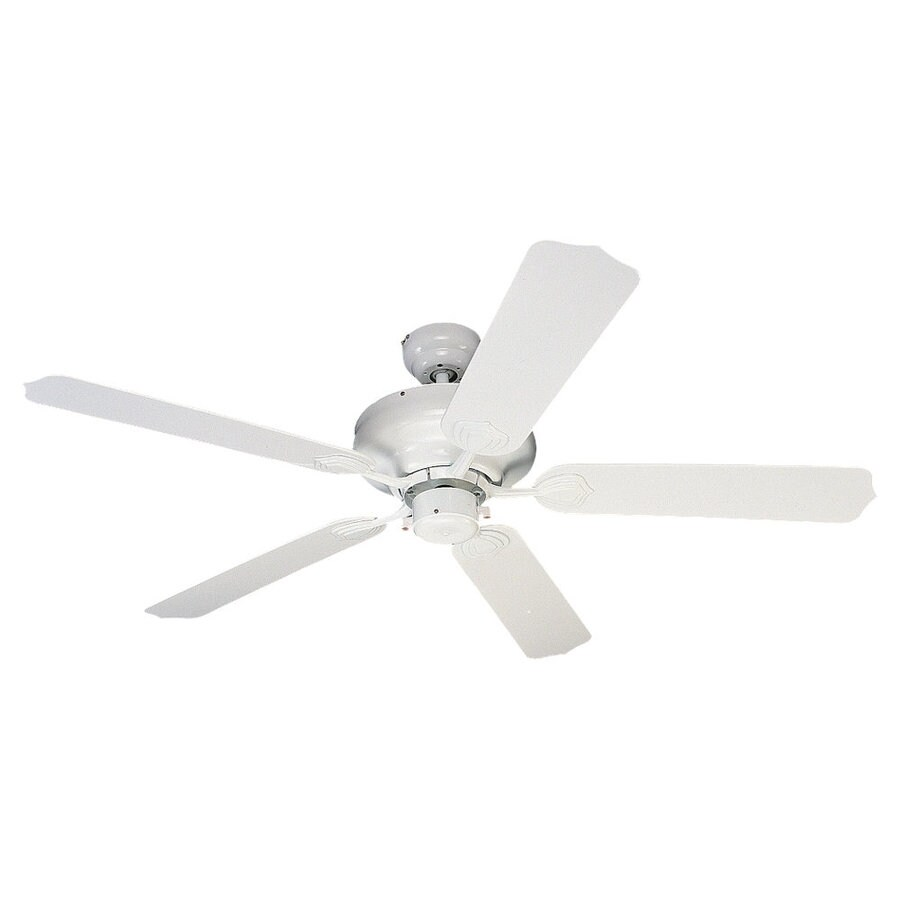 Sea Gull Lighting Long Beach 52-in White Downrod or Flush Mount Ceiling Fan ENERGY STAR
