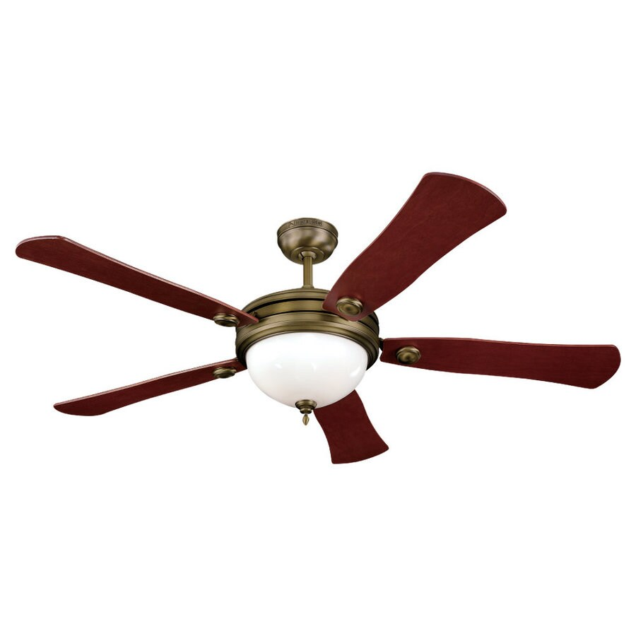 Sea Gull Lighting 52-in Aged Bronze Ceiling Fan with Light Kit
