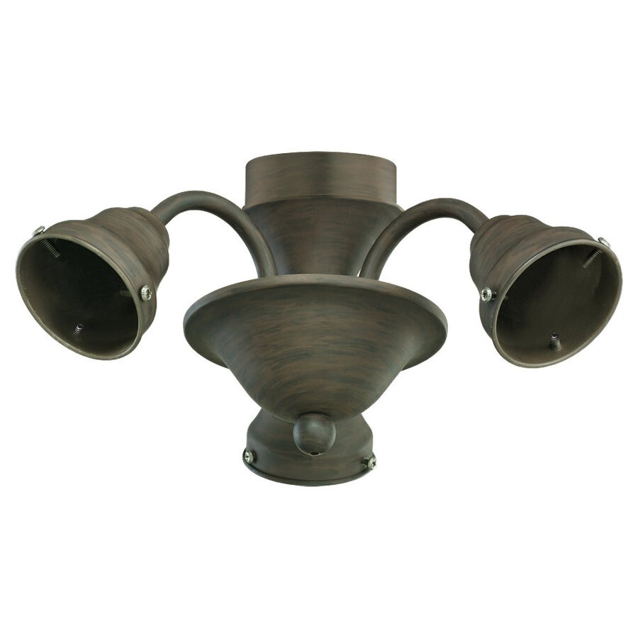 Sea Gull Lighting 3-Light Olde Iron Ceiling Fan Light Kit with Light Kit Without Glass Glass or Shade