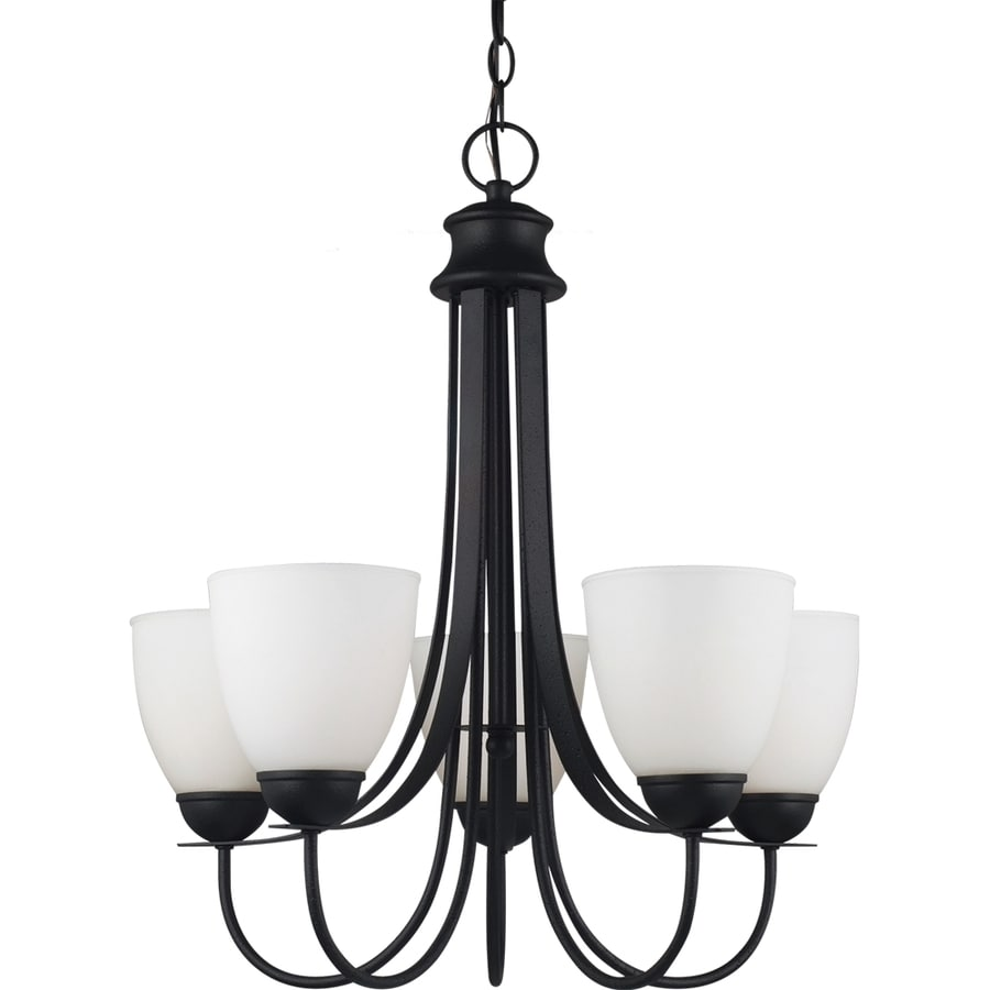 Sea Gull Lighting Uptown 22-in 5-Light Blacksmith Standard Chandelier