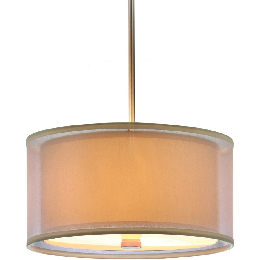 Sea Gull Lighting Jordyn Shade Pendants 20-in Brushed Nickel Single Pendant