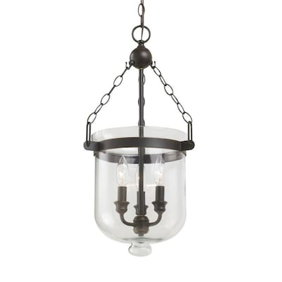 size 40 133b4 f278f Westminster Autumn Bronze Single Traditional Clear Glass Urn Pendant Light