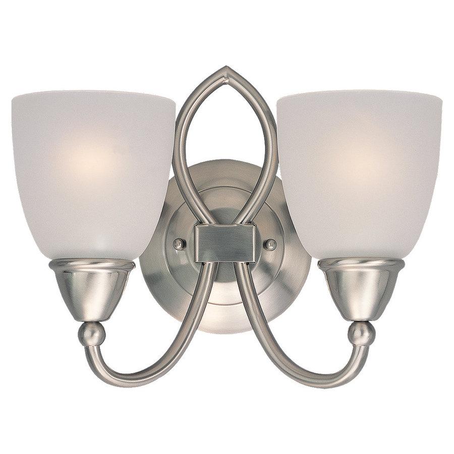 Shop Sea Gull Lighting 2 Light Pemberton Brushed Nickel Bathroom Vanity Light At