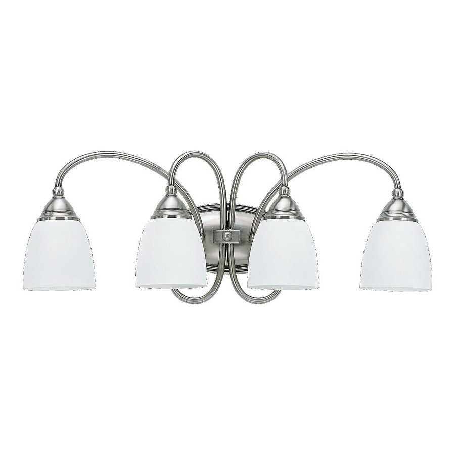 Sea Gull Lighting 4-Light Montclaire Antique Brushed Nickel Bathroom Vanity Light