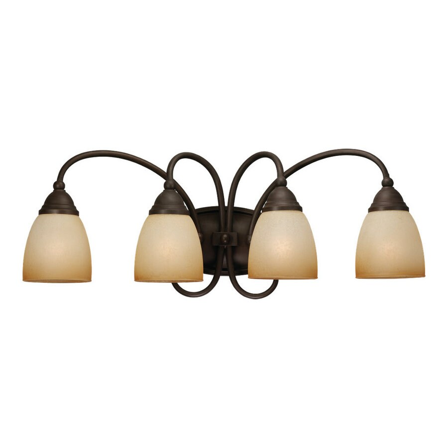 Sea Gull Lighting Montclaire 4-Light Olde Iron Vanity Light