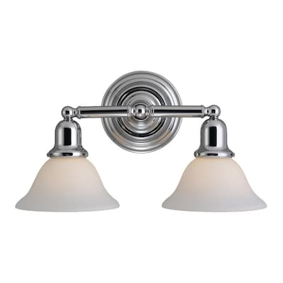 Sea Gull Lighting Sus 2 Light Chrome Transitional Vanity