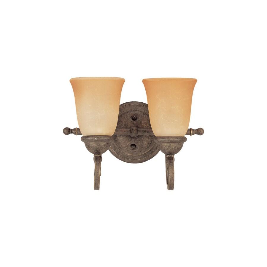 Sea Gull Lighting 2-Light Brandywine Antique Bronze Bathroom Vanity Light