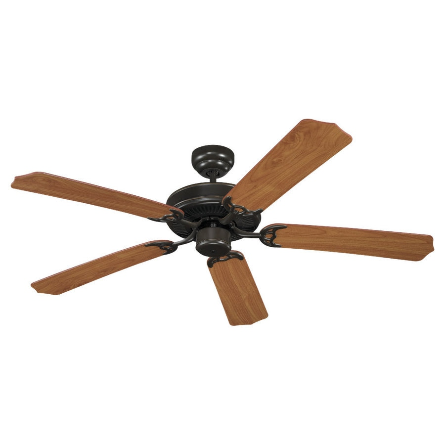 Sea Gull Lighting Quality Max 52-in Heirloom Bronze Downrod or Flush Mount Ceiling Fan ENERGY STAR
