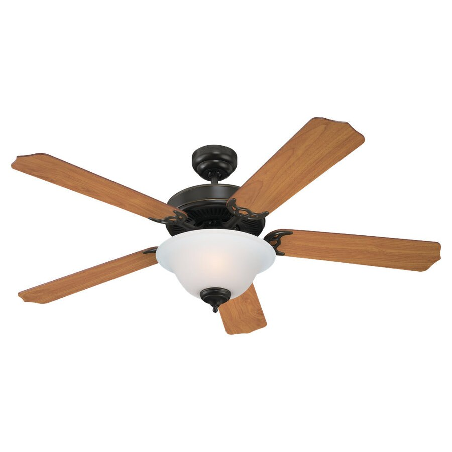 Sea Gull Lighting Quality Max Plus 52-in Heirloom Bronze Downrod or Flush Mount Ceiling Fan with Light Kit ENERGY STAR