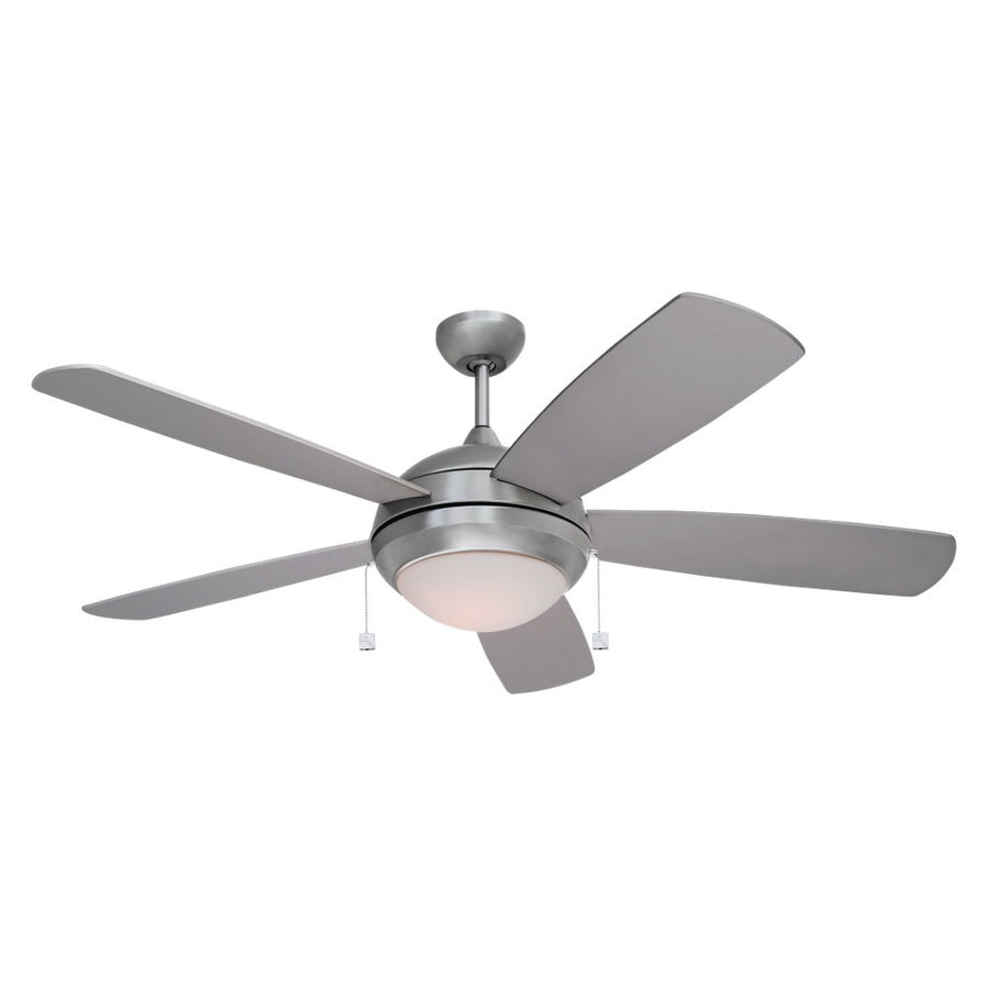 Sea Gull Lighting 52-in Brushed Nickel Ceiling Fan with Light Kit