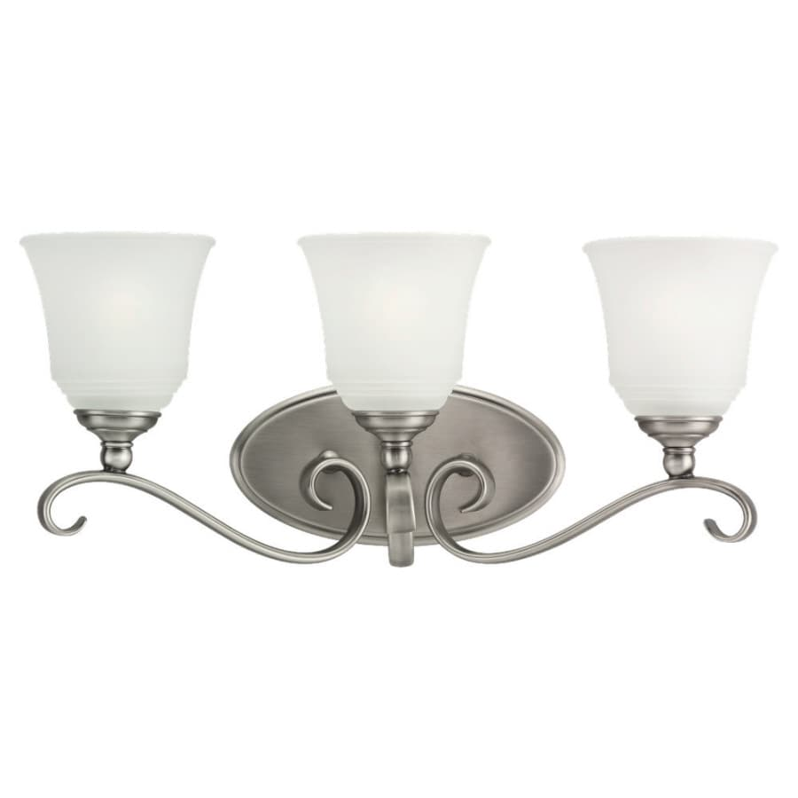 Sea Gull Lighting Parkview 3-Light Antique Brushed Nickel Vanity Light