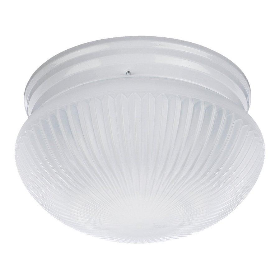 Sea Gull Lighting 9-5/8-in White Flush Mount