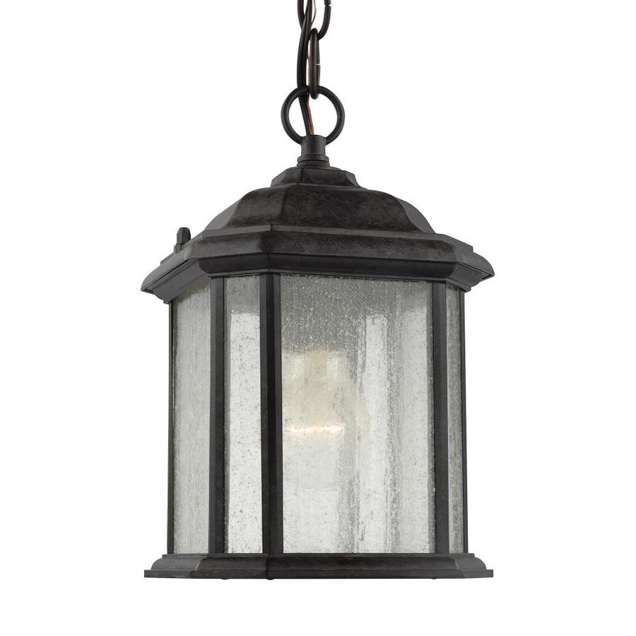Sea Gull Lighting 10-in H Oxford Bronze Outdoor Pendant Light