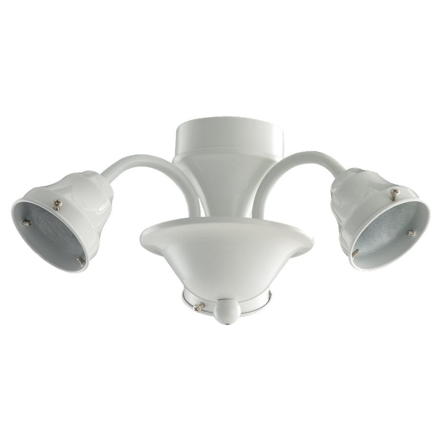 Sea Gull Lighting 3-Light White Ceiling Fan Light Kit