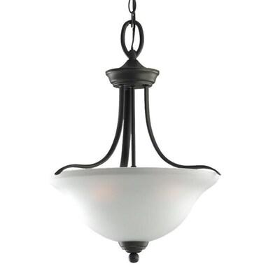 Wheaton Heirloom Bronze Single Transitional Etched Gl Bowl Pendant Light