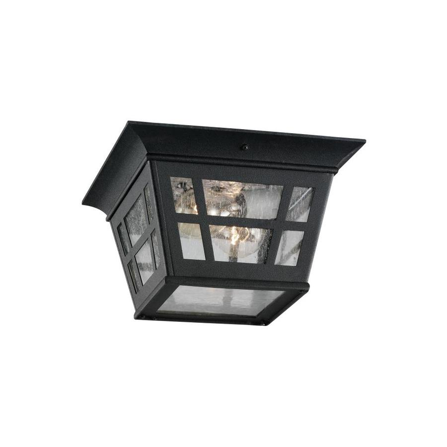 Sea Gull Lighting Herrington 1-Light Black Outdoor Hanging Pendant Fixture