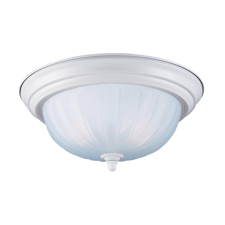 Sea Gull Lighting 14.62-in W Textured Snow Standard Flush Mount Light