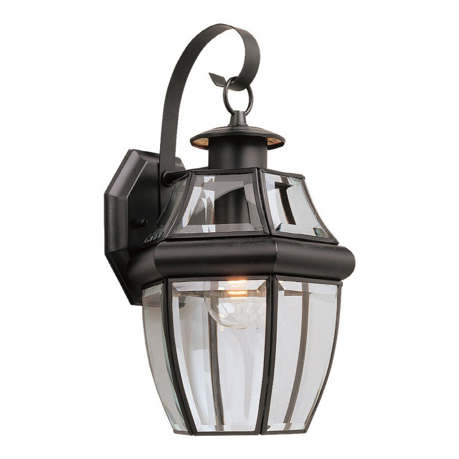 Sea Gull Lighting 14-in H Black Outdoor Wall Light
